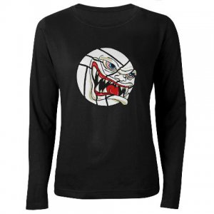 VICIOUS VOLLEYBALL | women's dark long sleeve tee