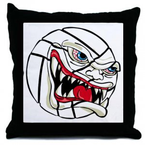 VICIOUS VOLLEYBALL | throw pillow