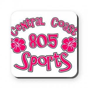 805 SPORTS LOGO [hibiscus 1]   square or round coaster