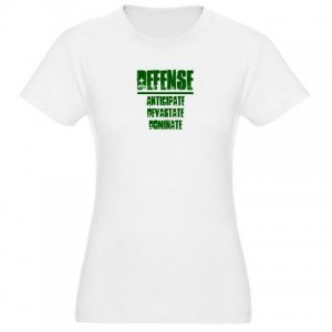 JR jersey tee | DEFENSE : anticipate, devastate, dominate [green]