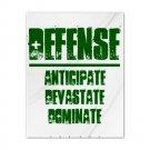 TWIN DUVET COVER   DEFENSE : anticipate, devastate, dominate [green]