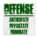 QUEEN DUVET COVER | DEFENSE : anticipate, devastate, dominate [green]