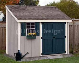 4' X 10 Lean-to Storage Shed Project Plans, Design #10410