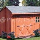 6' X 10' Saltbox Storage Shed/playhouse Plans,Design #70610