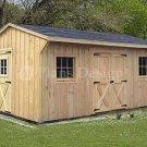 12' X 16' Saltbox Roof Style Storage Shed Plans, Design #71216