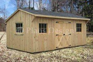 10' X 16' Saltbox Storage Shed Blueprints Plans, Design # 71016