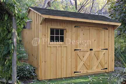 8' X 12' Saltbox Style Storage Shed Project Plans, Design