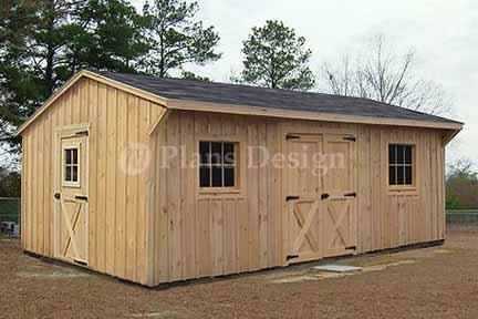 12 39 x 18 39 saltbox garden storage shed plans design 71218 for Salt shed plans