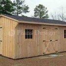 12' X 18' Saltbox Garden Storage Shed Plans, Design #71218