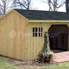 8' X 10' Firewood Storage Shed Project Plans, Design #70810