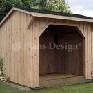 8' X 8' Firewood Storage Shed Project Plans, Design #70808