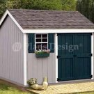 8' x 10' Gable Storage Shed Project Plans, Design #10810