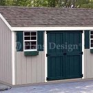 8' x 12' Gable Garden Storage Shed Plans, Design #10812