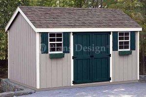 8' x 12' Gable Garden Storage Shed Plans, Design #10812