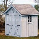 6' X 6' Gable Storage Shed/playhouse Plans, Design #80606