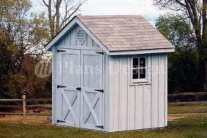6' X 6' Gable Storage Shed/playhouse Plans, Design #80606