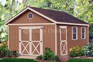 20' x 12' Gable Garden Storage Shed Project Plans, Design #22012