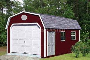 12' X 20' Barn/gambrel Garage Project Plans, Design #31220