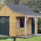 12' X 12' Cottage Shed with Porch Project Plans, Design #81212