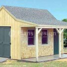 12' X 16' Cottage Shed with Porch Project Plans, Design # 81216