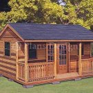 16' X 20' Cottage Shed with Porch Project Plans, Design #61620