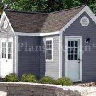 7' X 12' L 7' X 5' Dual Storage Shed Project Plans, Design #60712