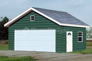 20' X 20' Car Garage Building Project Plans, Design #52020
