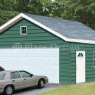 20' X 24' Two Cars Garage Project Plans, Design #52024