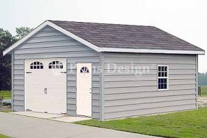 18' X 24' Car Garage Workshop Project Plans, Design #51824