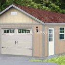 16' X 28' Car Garage Blueprint Project Plans, Design #51628