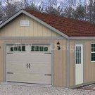 16' X 24' Car Garage or Workshop Project Plan, Design #51624