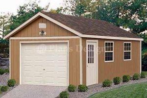 12' X 24' Car Garage Building Project Plans, Design #51224