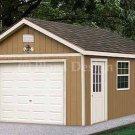 12' X 20' Garage Workshop Shed Project Plans, Design #51220