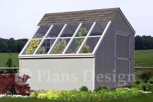 10' x 10' Backyard Garden Greenhouse Project Plans, Design #41010