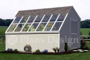 10' x 14' Backyard Garden Greenhouse Project Plans, Design #41014