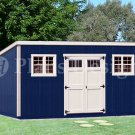 10' x 20' Deluxe Modern Storage Shed Project Plans, Design #D1020M