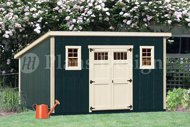 10 X 16 Deluxe Modern Storage Shed Plans Blueprints