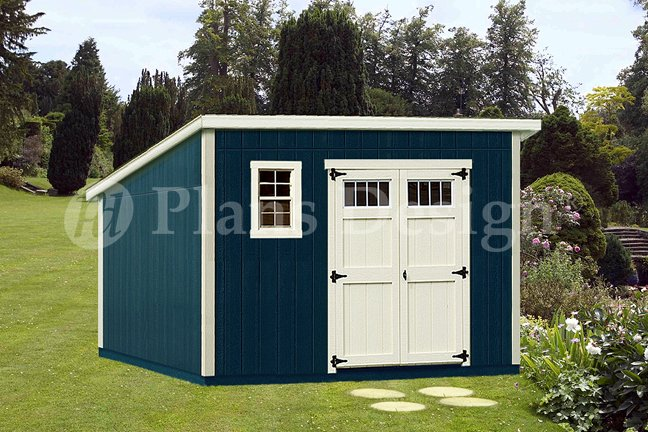 10 X 12 Deluxe Modern Garden Storage Shed Plans Design