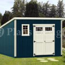 10' x 12' Deluxe Modern Garden Storage Shed Plans, Design #D1012M