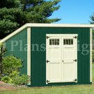 10' x 10' Deluxe Modern Utility  Storage Shed Plans, Design #D1010M