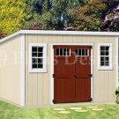 8' x 14'  Deluxe Modern Storage Shed / Building  Plans, Design #D0814M