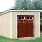 Shed Plans, 8' x 8'  Deluxe Building Modern Roof Style, Design #D0808M