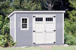 6' x 12'  Building Blueprints / Shed Plans  Deluxe  Modern Style, Design #D0612M
