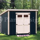6' x 10'  Classic Deluxe  Modern Storage Shed Plans, Design #D0610M