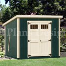 6' x 8'  Wooden Garden Deluxe Modern Storage Shed Plans, Design #D0608M