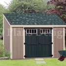 6' x 10'  Deluxe Lean To Shed Plans, Step By Step Instructions, Design #D06010L