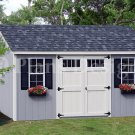 Storage Shed / Building Plans 8' x 16' Deluxe Lean-To Roof Style, Design #D0816L