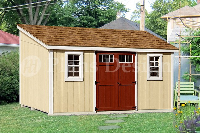 10' x 14' Deluxe Lean-To Do It Yourself Storage Shed Plans ...