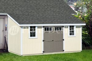 10' x 16' Lean To Shed Plans, How To Build Storage Shed, Design #D1016L