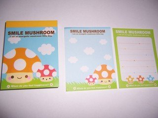 Smile Mushroom Mini Memos